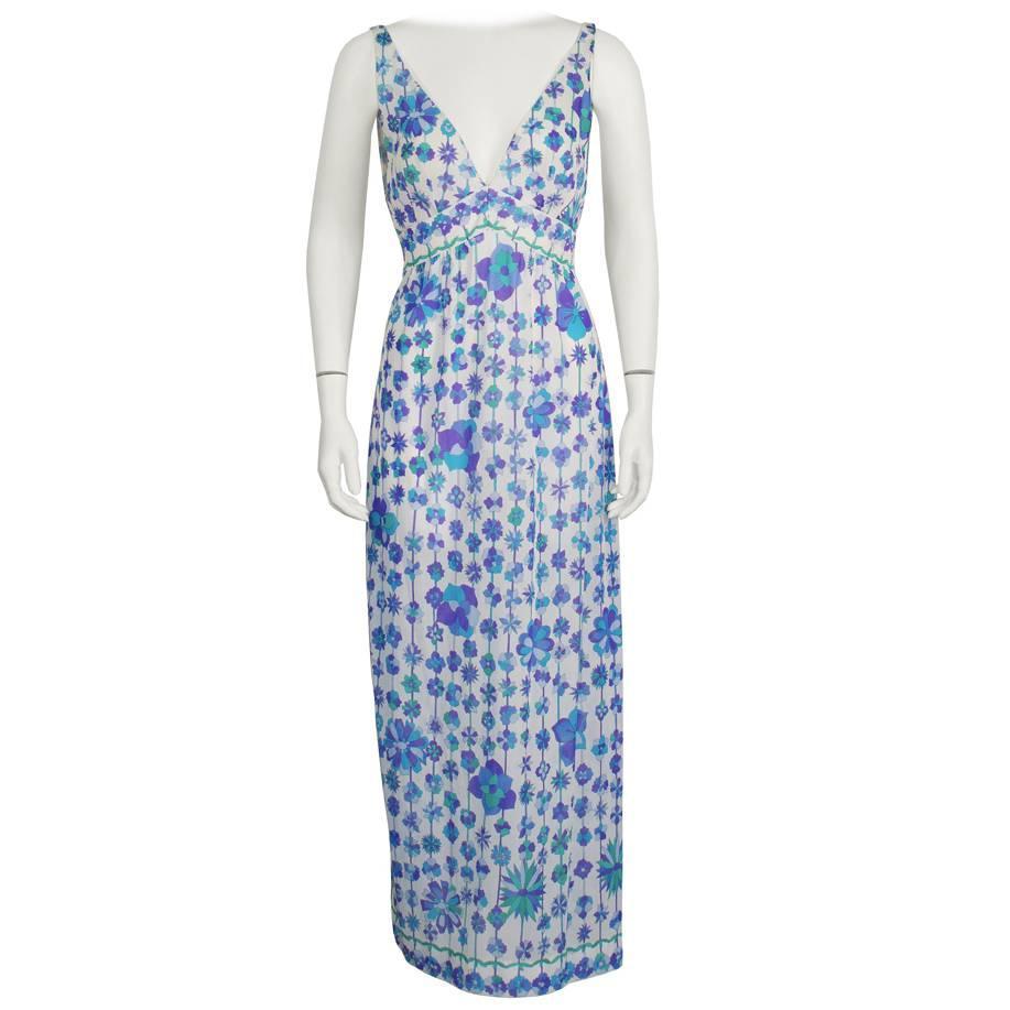 1970's Emilio Pucci For Formfit Rogers Slip Dress