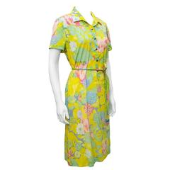1970's Ken Scott Floral Pastel Daydress
