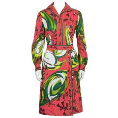 1970's Emilio Pucci Printed Cotton Shirt and Skirt Set