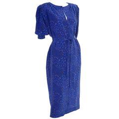 1970's Vintage Emanuel Ungaro Parallele Silk Dress