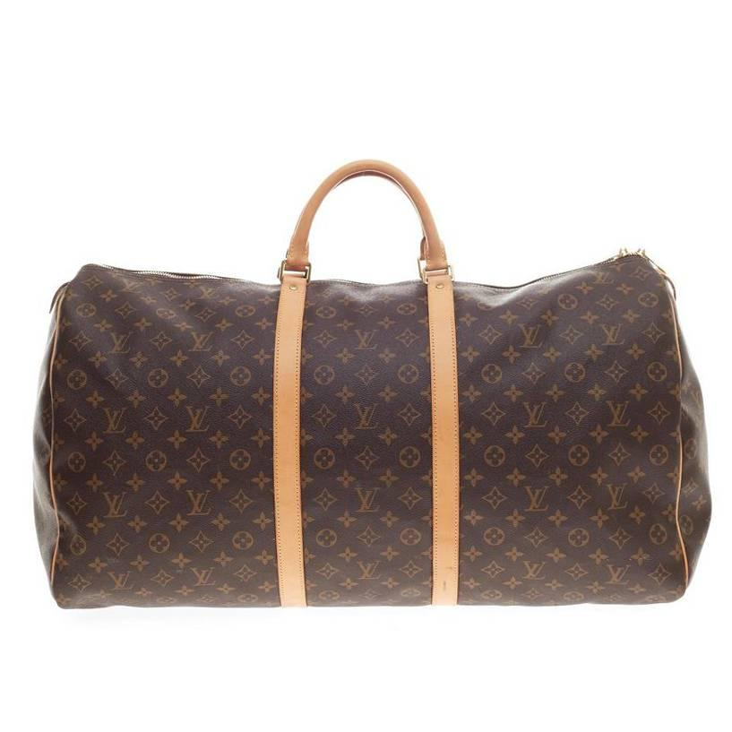 louis vuitton keepall monogram canvas 60 at 1stdibs. Black Bedroom Furniture Sets. Home Design Ideas