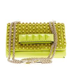 Valentino Va Va Voom Clutch Beaded Leather Small
