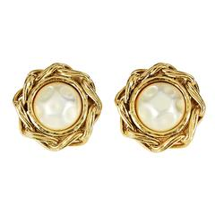 Goldtone Chanel Clip-On Earrings