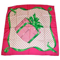 "Christian Dior Bold & Bright ""Wrapped Present"" Silk Scarf"