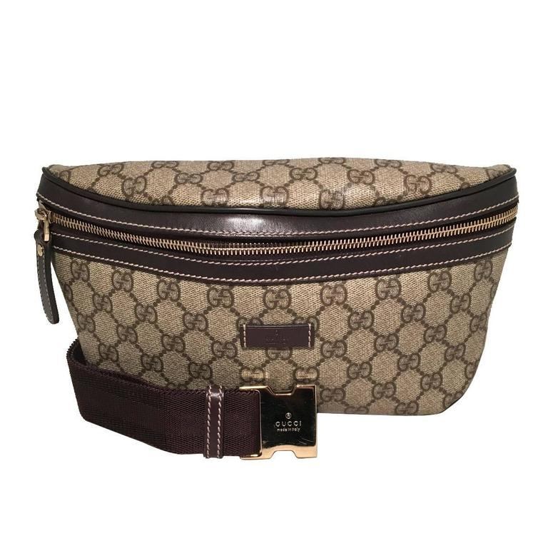 6c37844ea4e7e Gucci Monogram Canvas Belt Bag Fanny Bag Waist Bag For Sale at 1stdibs