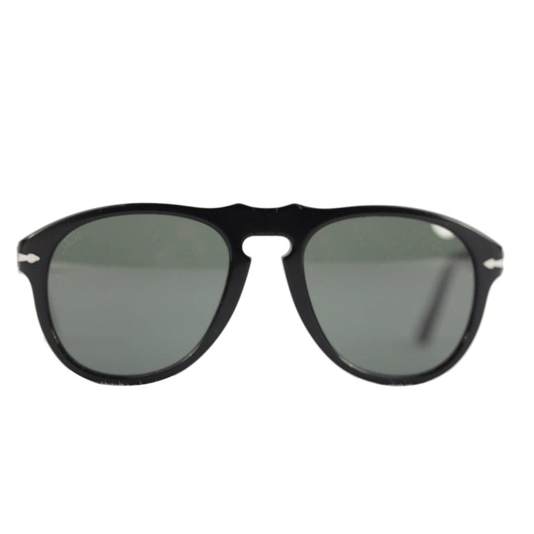fd9b0fc9c0f46 PERSOL black SUNGLASSES 649 MEFLECTO eyewear 95 31 54 20 140 3N with CASE