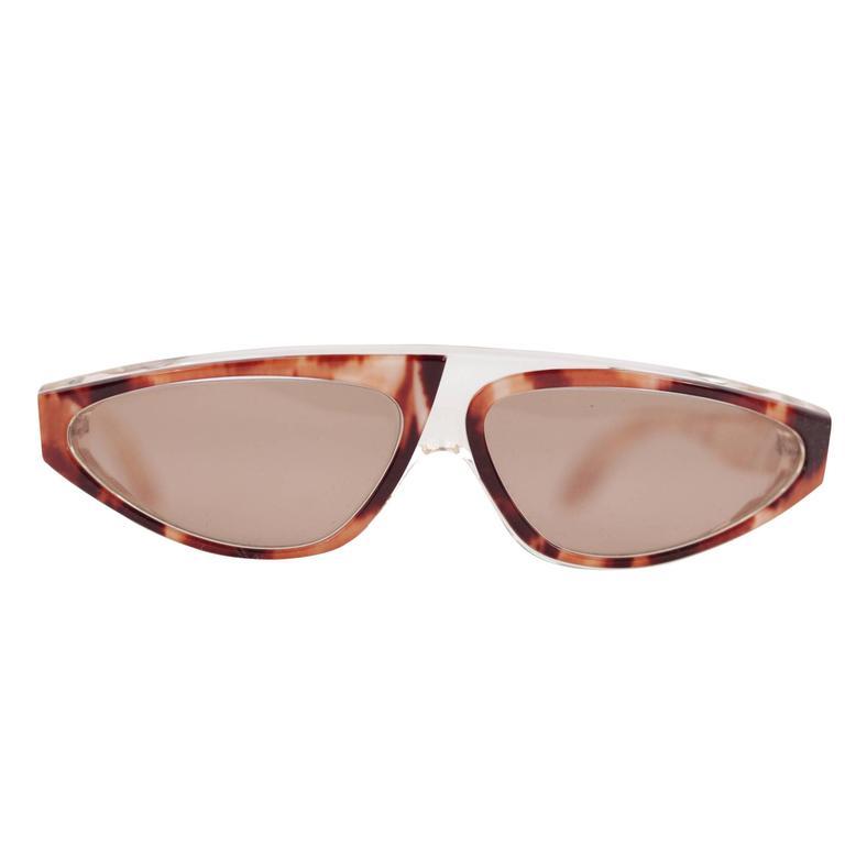 22d2a07ecfb ALAIN MIKLI PARIS rare vintage tortoise brown DESIGN SUNGLASSES AM 31  eyewear For Sale at 1stdibs
