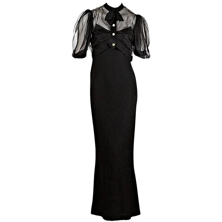 Black Chanel Dress Set