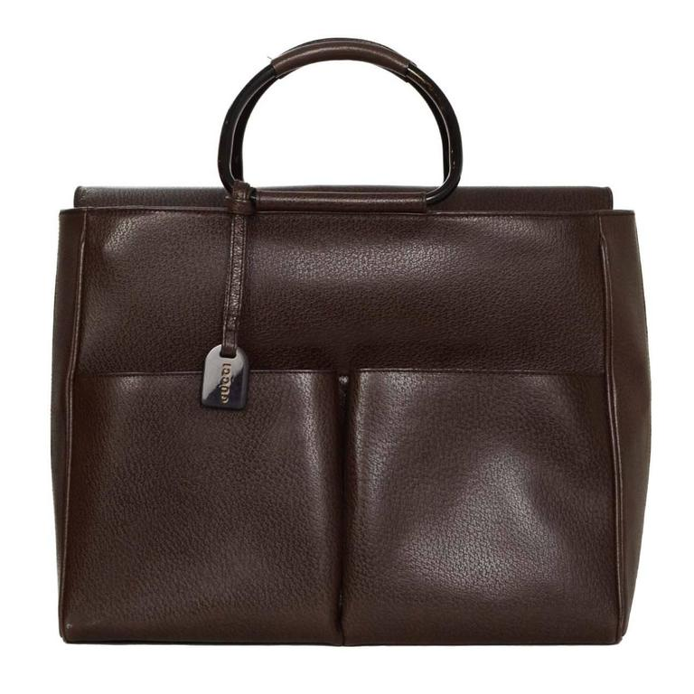 Gucci Brown Leather Tote Bag Bhw For