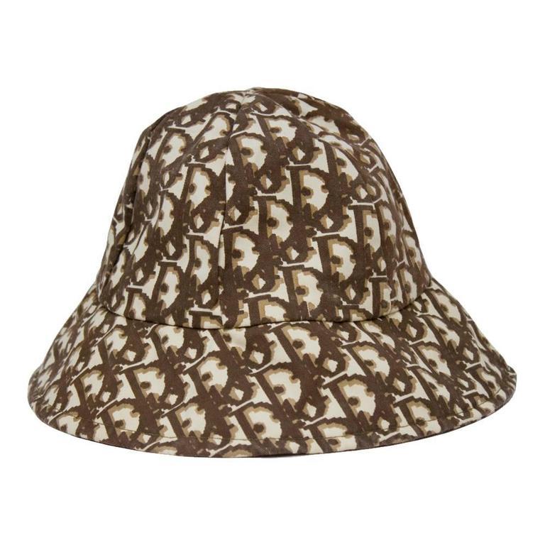1970 s Christian Dior Cotton Monogram Bucket Hat at 1stdibs 8bc0a1df9ea