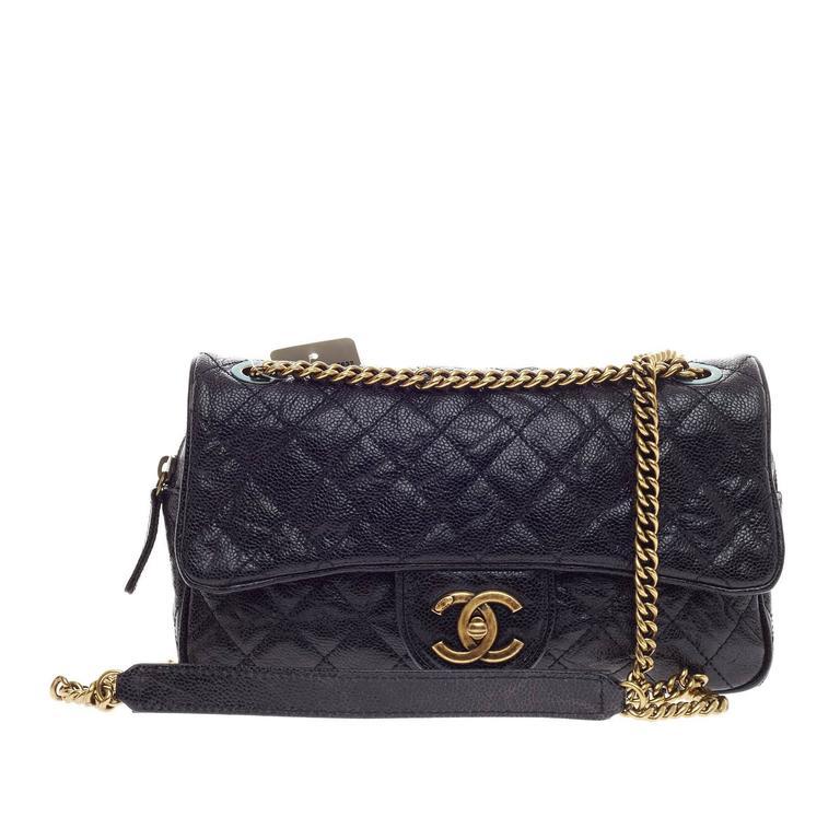 8627a4c5741e Chanel Shiva Flap Bag Caviar Small at 1stdibs