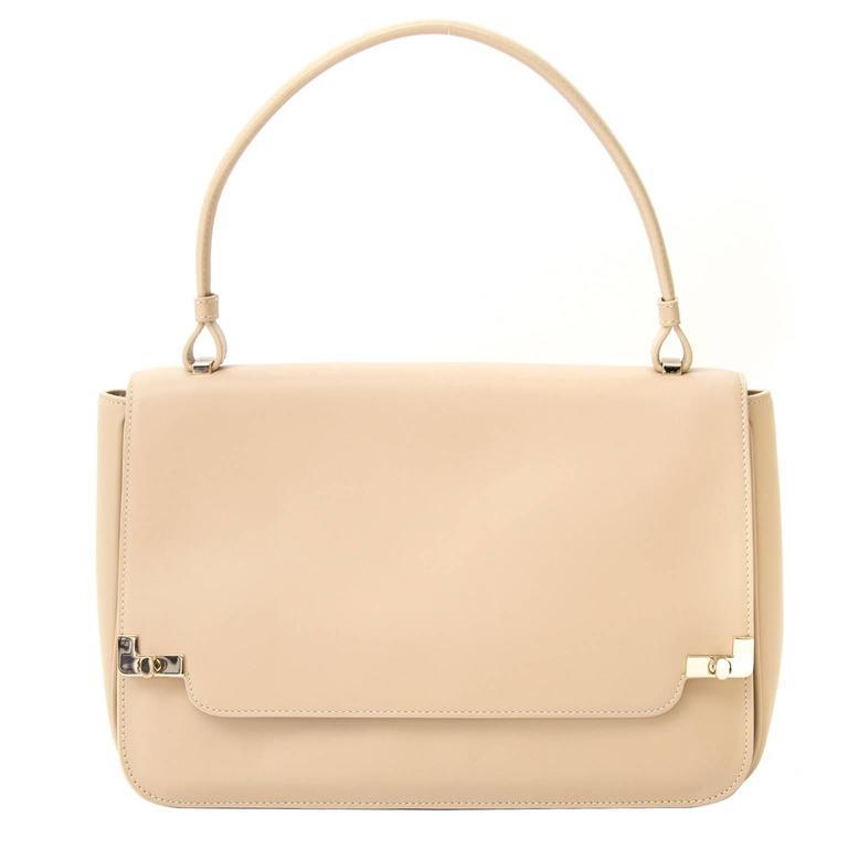 Lancel Beige Handbag