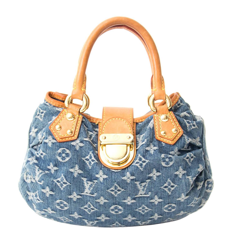 Louis Vuitton Mini Pleaty Denim Monogram Bag at 1stdibs