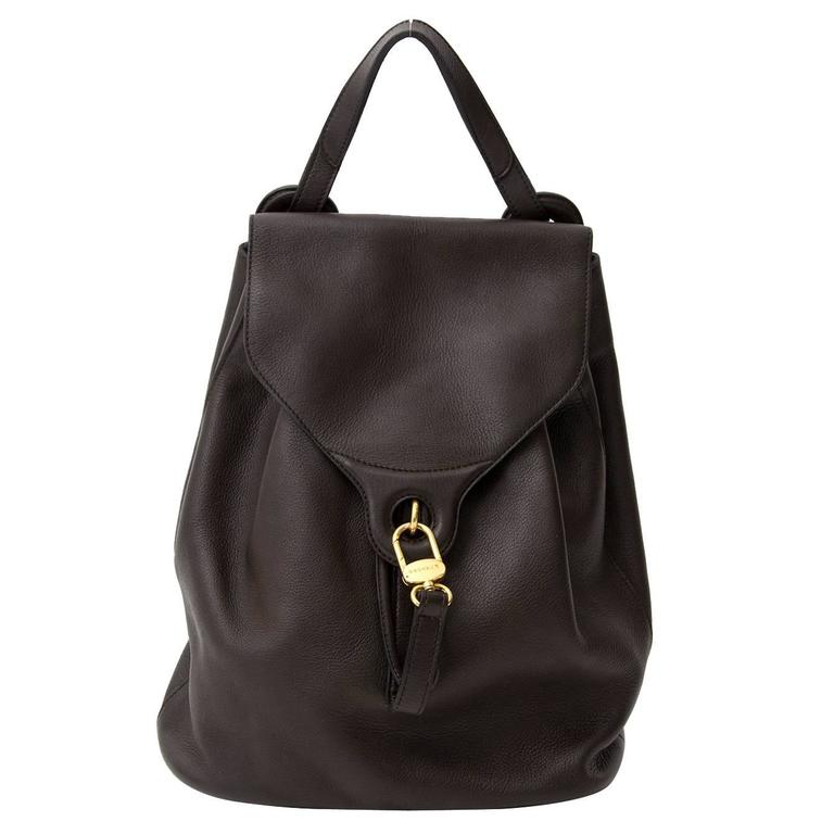 Delvaux Brown Backpack  For Sale