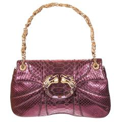 Tom Ford for Gucci Fall 2004 Snake Metallic Purple & Gold Bag