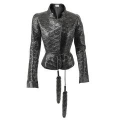 Tom Ford for Yves Saint Laurent Fall 2004 RTW Patent Leather & Mink Fur Jacket