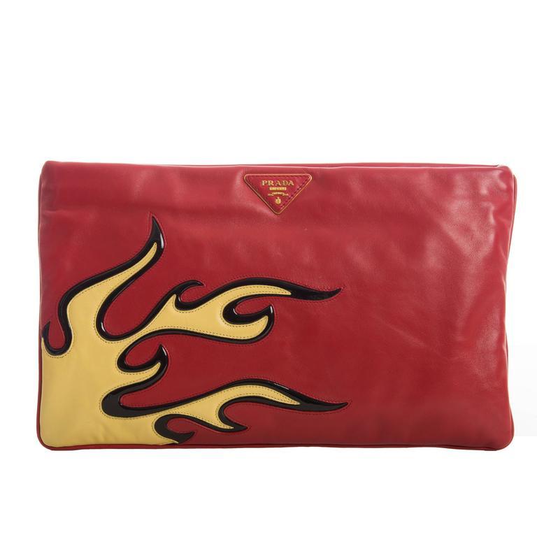 Prada Flame Clutch Spring 2012 1