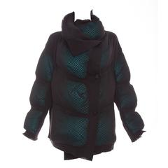 Issey Miyake Open Knit Overlay Puffer Coat, Autumn - Winter 2012