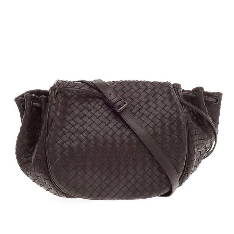 0e30369744 Bottega Veneta Flap Messenger Bag Intrecciato Nappa Medium at 1stdibs
