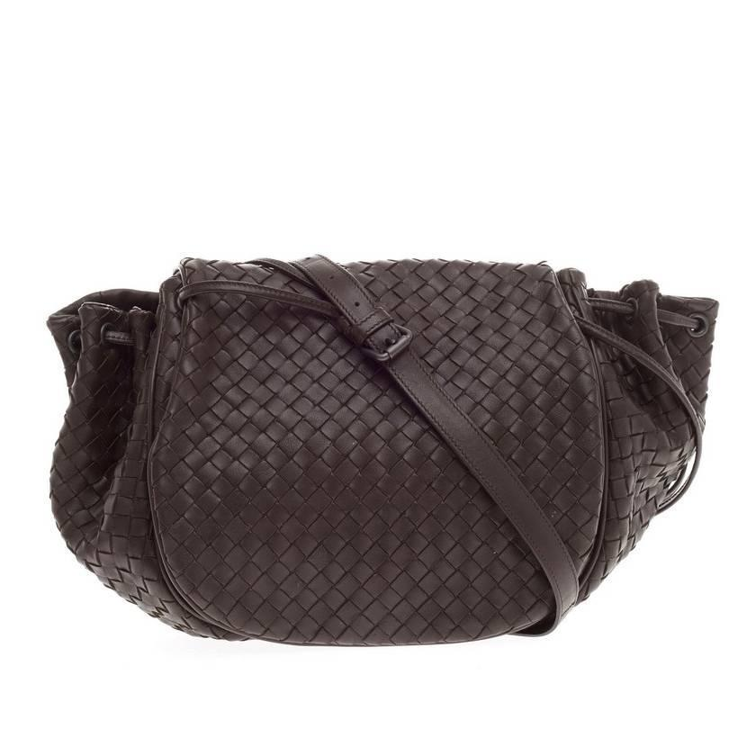 55bdbf28aa Bottega Veneta Flap Messenger Bag Intrecciato Nappa Medium at 1stdibs