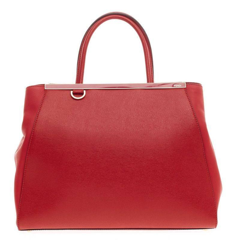Fendi 2Jours Leather Medium at 1stdibs