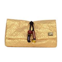 Louis Vuitton Gold Monogram African Queen Limelight Clutch Bag GHW