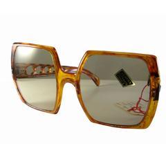 60s Paulette Guinet Tortoise Sunglasses Large Square Mod New Dead Stock Tags