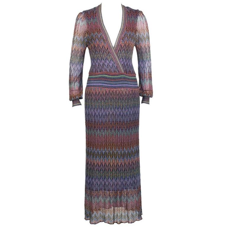 1970's Missoni Open Knit Maxi Dress 1