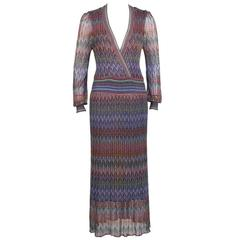 1970's Missoni Open Knit Maxi Dress