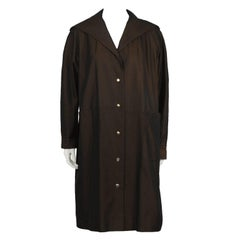 1950's Schiaparelli Brown Overcoat