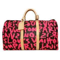 Louis Vuitton Monogram Graffiti Keepall 50