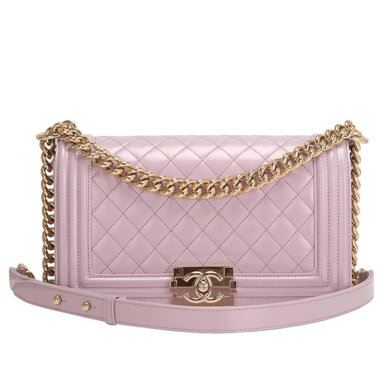 Chanel Light Iridescent Calfskin Medium Boy Shoulder Bag For Sale