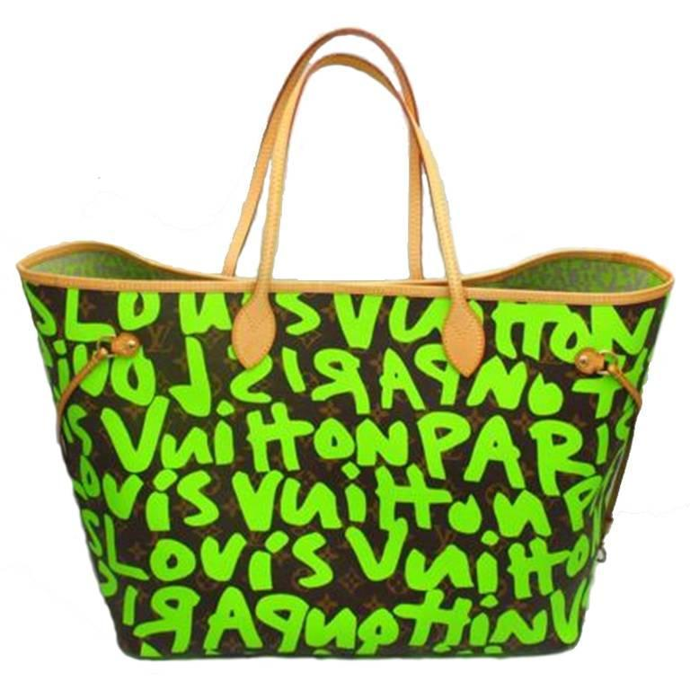 Louis Vuitton by Marc Jacobs Neverfull GM graffiti Tote M93703 For Sale