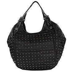 Givenchy Black Nylon Beaded 'New Sacca' Hobo Bag