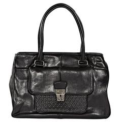 Black Tod's Leather Tote Bag