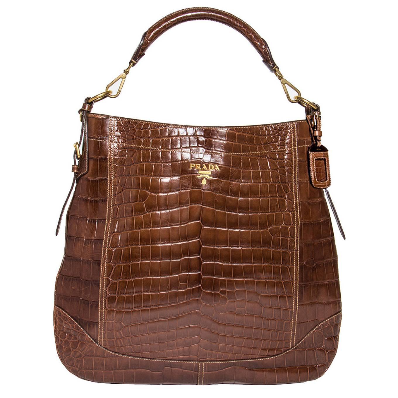 prada bag red leather - prada brown crocodile medium bag, prada black leather shoulder bag