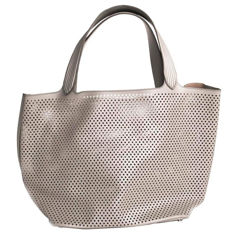 1stdibs Alaia Perforated Leather Tote DJuyB