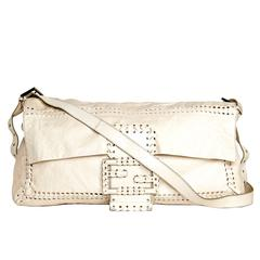 Fendi Ivory Leather Medium Bag