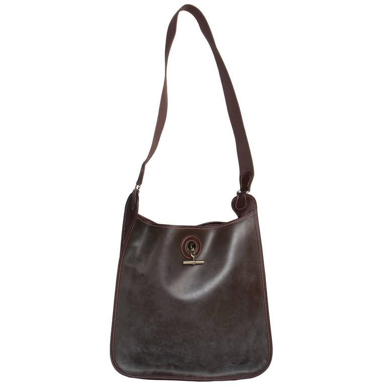 Hermès Brown Eco Leather Bag For Sale