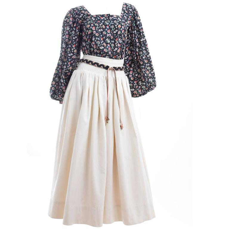 Yves Saint Laurent Gypsy Skirt and Blouse 1