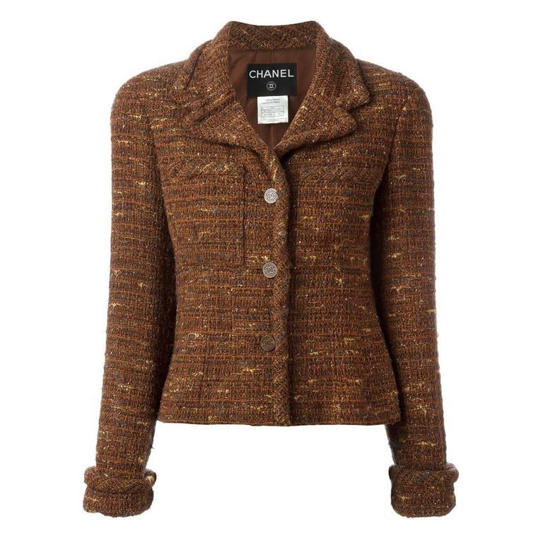 Chanel Bouclé Blazer Jacket For Sale