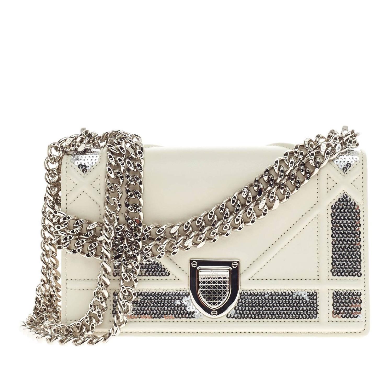 59ed57e6106b Christian Dior Diorama Flap Bag Sequin Embellished Lambskin Mini at 1stdibs
