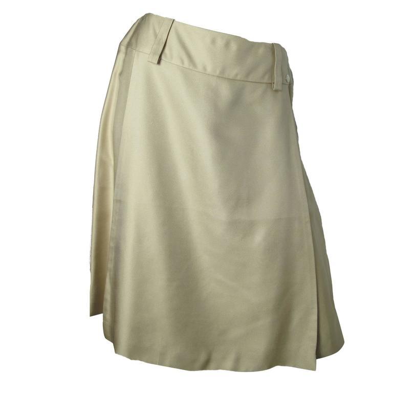Chanel by Karl Lagerfeld ivory silk Skirt