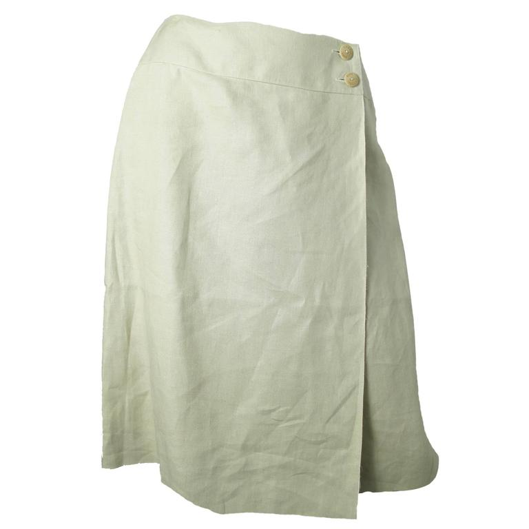 Chanel Linen Wrap Skirt