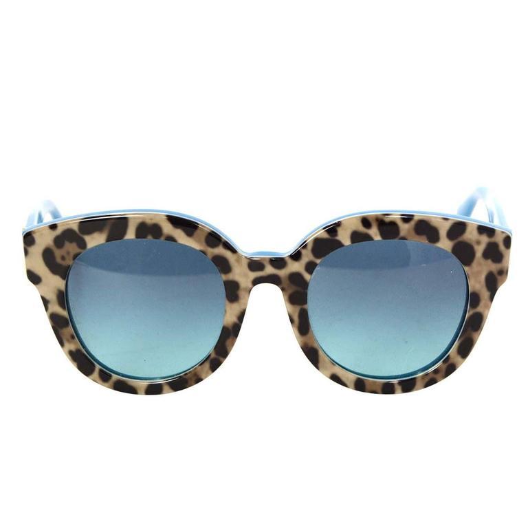 Fashion Leopard Print Cat Eye Sungles Brown
