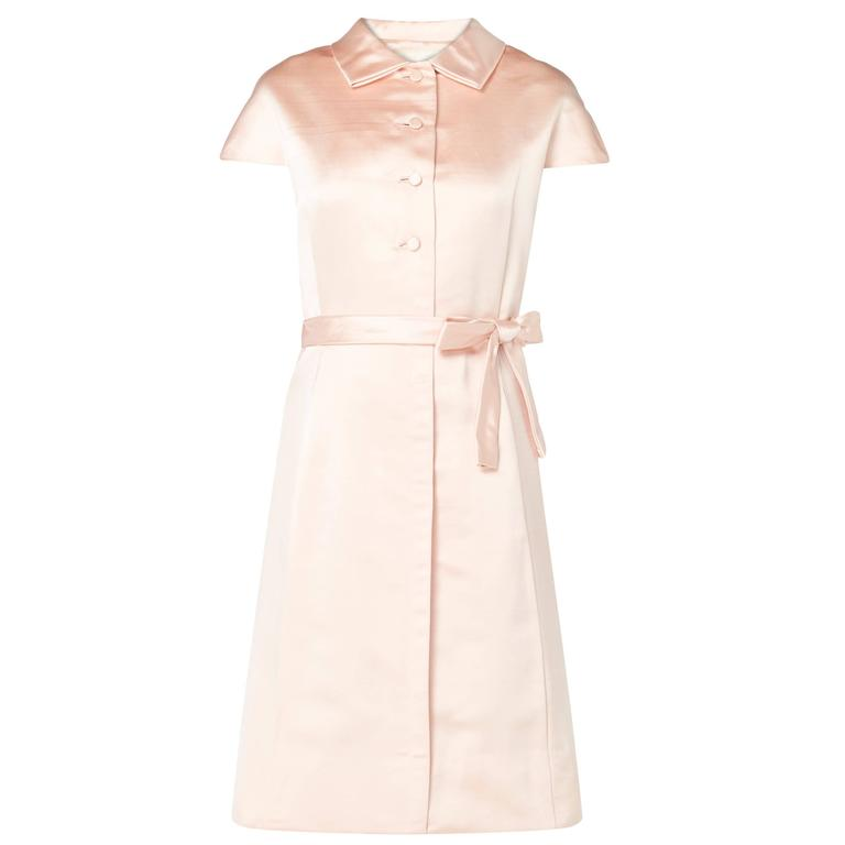 Teal Traina pink dress, circa 1965