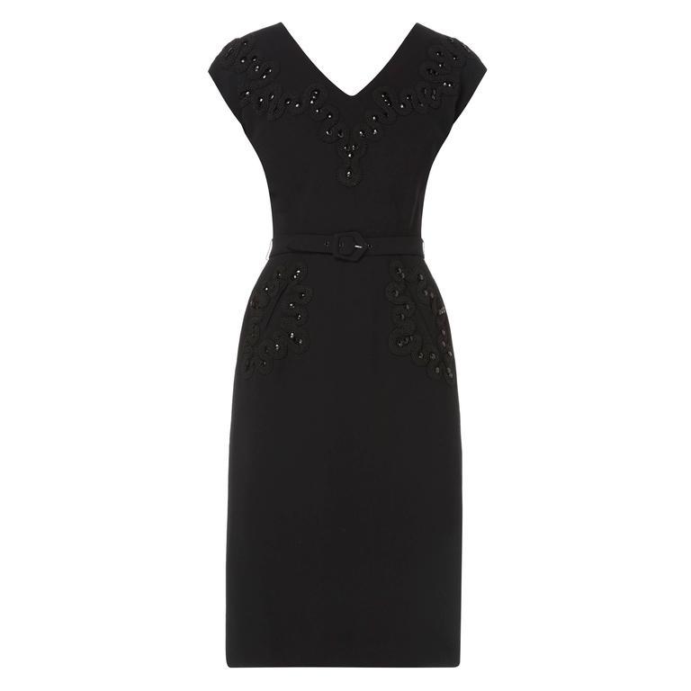 Balenciaga haute couture black dress, circa 1940