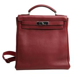 birkin tote bag - hermes double sens large ruby/bougainvillea