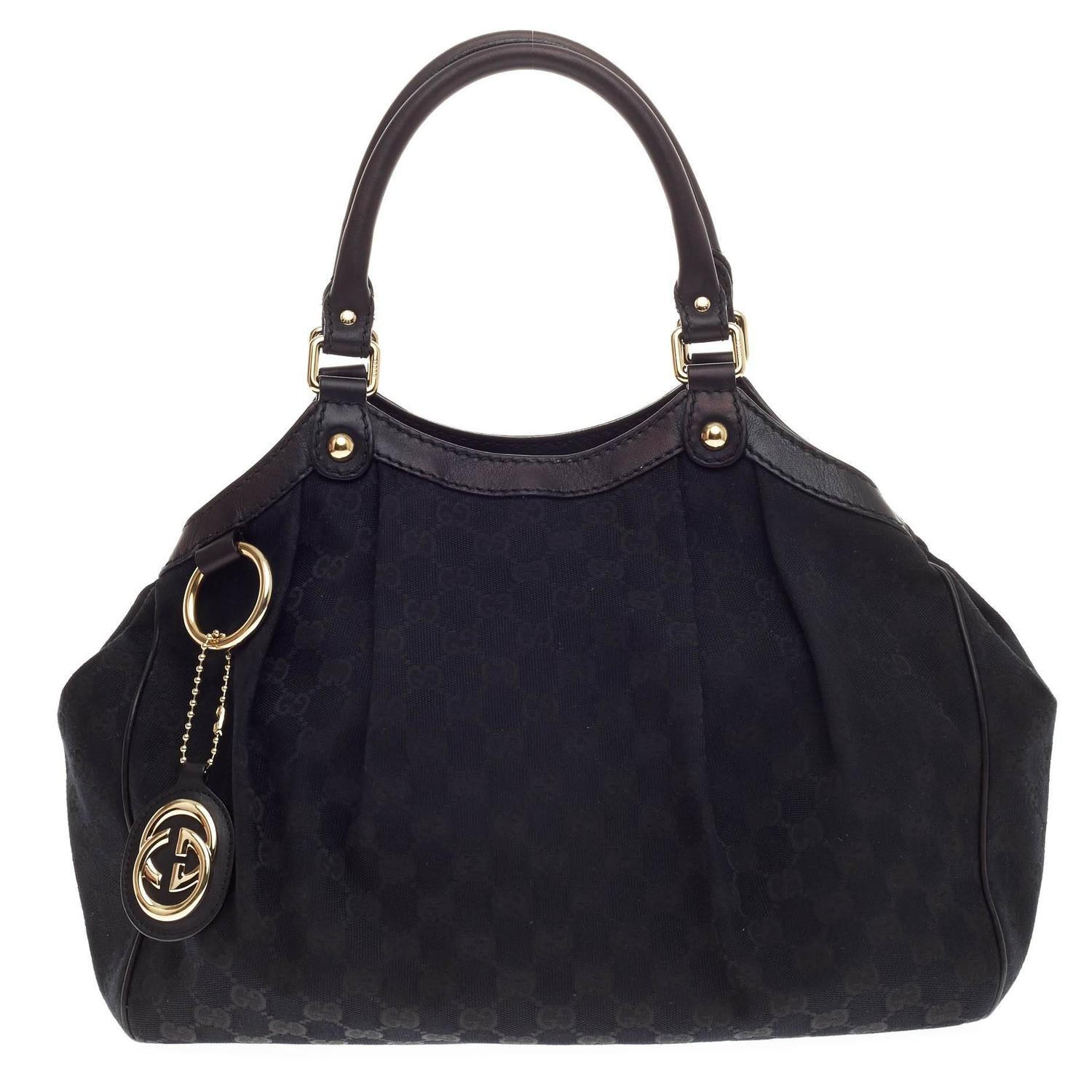 112f3a52ab5a76 Gucci Sukey Medium Tote Black Canvas | Stanford Center for ...