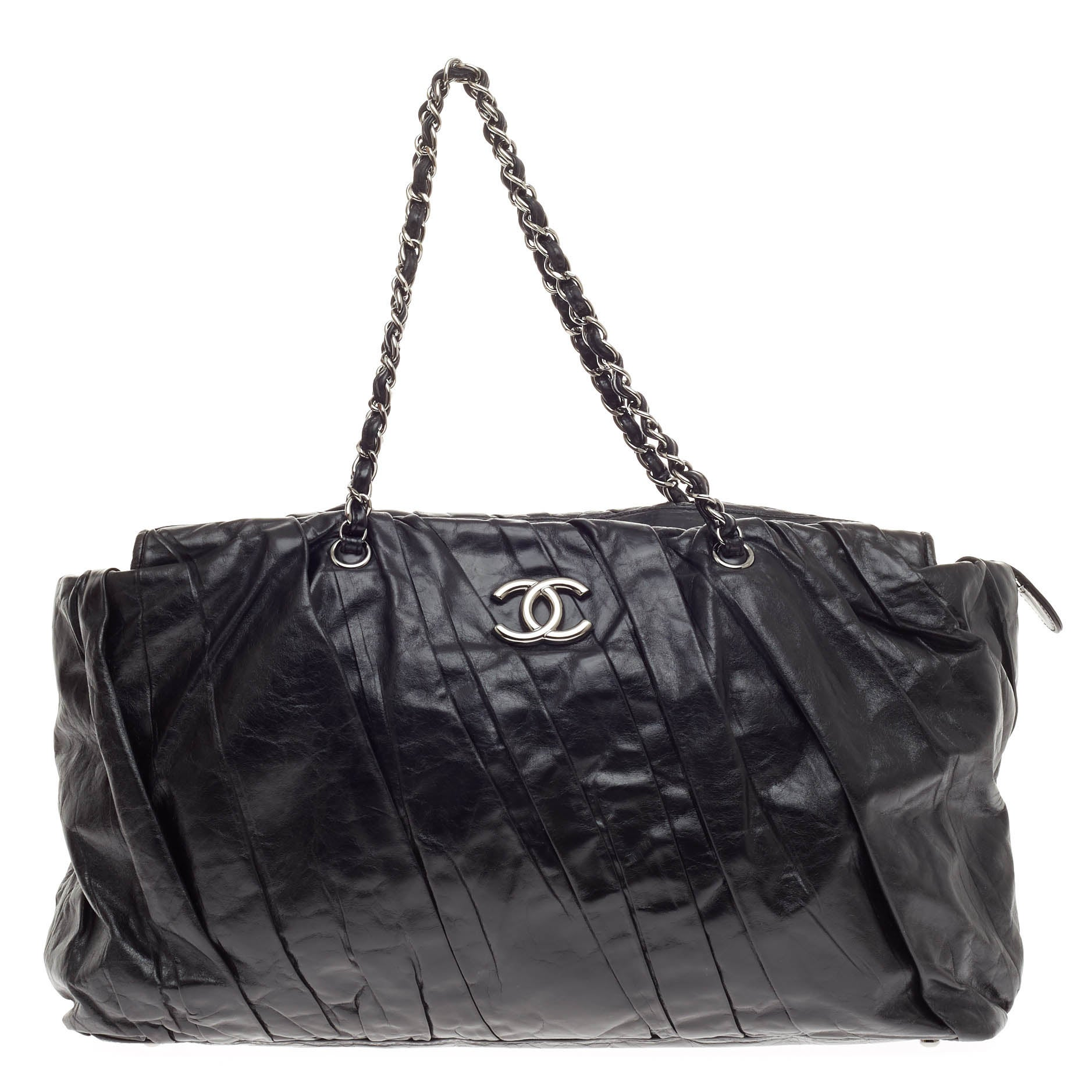 7a9dc5261899 Chanel Twisted Tote Glazed Calfskin East West at 1stdibs